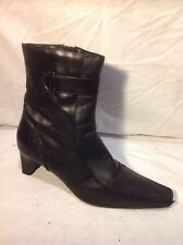 Principles Black Ankle Leather Boots Size 41