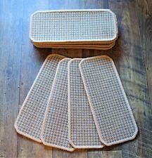 14 Carpet Stair Case Treads Pads # Oatmeal Flat Weave #  20cm x 45cm