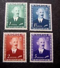 Norway Stamp Scott# 275-278 King Haakon VII 1948 MH  C401