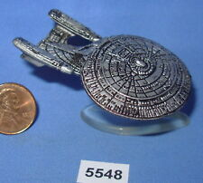 Star Trek Micro Machines U.S.S. ENTERPRISE NCC-1701-D Pewter Color with Stand