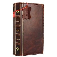 genuine leather Case for iphone XS MAX wallet handmade cover bible book luxury