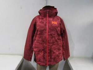 Helly Hansen Jr Waterproof Skyhigh Kid's Ski Jacket, Cabernet Red, Size 16
