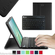 """Bluetooth Keyboard Leather Case Cover Samsung Galaxy Tab S2 8.0 8"""" inch Stand"""