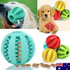 Dog Chew Ball Toy Rubber Dental Clean Teeth Healthy Treat Gum Bite Puppy Pet AF#