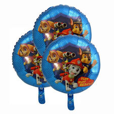 "x3 Paw Patrol 18"" Foil Balloons Birthday Party Decor Favor Chase Marshall Skye"