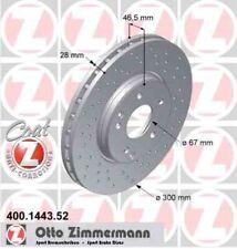 Disque de frein avant ZIMMERMANN PERCE 400.1443.52  MERCEDES-BENZ CLASSE C W203