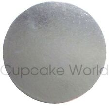 "NEW! 8"" PACK OF 5PC SILVER ROUND CARDBOARD CAKE BOARDS FOR CRAFT CAKES CUPCAKES"