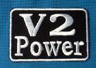 V2 POWER RACING BIKE ENGINE BIKER MOTORBIKE SOW SEW ON IRON ON PATCH BADGE