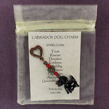 3D BLACK LABRADOR RETRIEVER CHARM Totem Amulet Talisman Canine Animal Dog Symbol