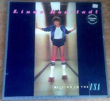 LINDA RONSTADT living in the USA 1978 UK ASYLUM RED VINYL STEREO LP + INNER