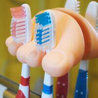 Cartoon NEU Zahnbürstenhalter mit Saugnapf-Zehenform Farbe Bad Zahnbürste