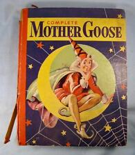 Complete Mother Goose Vintage Book 1934 Whitman Publishing Illustrated (O) AS IS