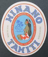 Ancien sous-bock bière HINANO TAHITI beer beermat coaster Bierdeckel 13
