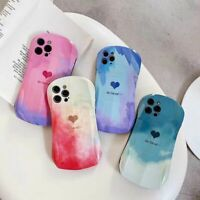 For iPhone 11 12 Pro Max XS XR 8 7 Plus SE2 Case Watercolor Silicone Love Cover