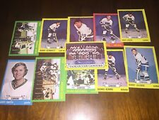 1973-74 Topps Hockey Vancouver CANUCKS team set (11 cards)