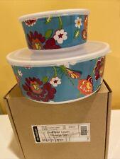 Longaberger Summer Lovin 2 Pc Storage Set New In Box