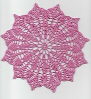 Tropical Pink Blush Doily Pineapples Hand Crochet Doily 8 inch round decoration
