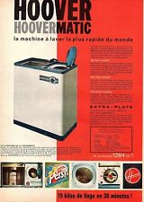 ▬► Publicité French Print advertising  - Hoovermatic - HOOVER - 1961
