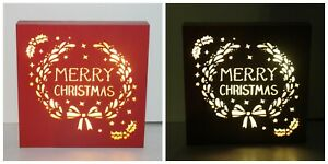 Red Merry Christmas Decoration LED Light Box
