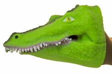 Soft Rubber Realistic 6 Inch Alligator Hand Puppet (Natural Green)