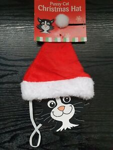 Pussy Cat Christmas Hat Pet Accessories