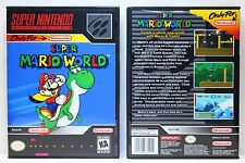 Super Mario World - Super Nintendo SNES Custom Case *NO GAME*
