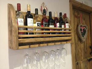 BESPOKE RUSTIC / FARMHOUSE / SHABBY CHIC HAND CRAFTED WINE RACK HOLDER - NEW