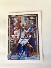 Shaquille O'Neal HOF HAND SIGNED 92 Topps DRAFT ROOKIE CARD With COA Stock 003