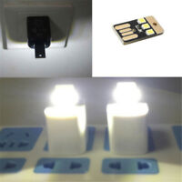 3X Mini USB LED Light Pocket Card Lamp Mobile Power Camping Laptop Black Whit wr