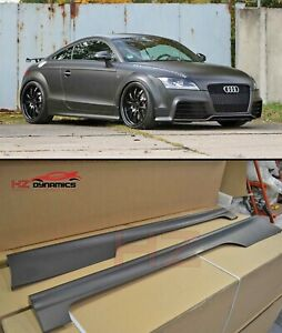 SIDE SKIRTS ADD-ON UPGRADE PLASTIC FOR AUDI TT MK2 TO TTRS LOOK UK STOCK