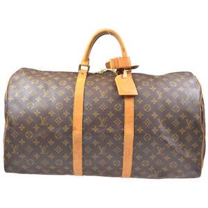 LOUIS VUITTON MONOGRAM PURSE KEEPALL 55 TRAVEL HAND BAG M41424 MI0922 20154