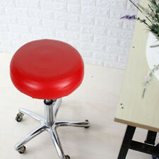 PU Leather Bar Salon Round Stool Covers Waterproof Seat Cover Cushions Red