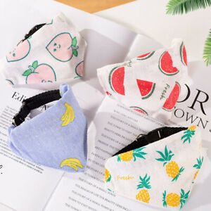 Cat Dog Cute Pet Collar Triangle Scarf Cotton And Linen Printed Saliva Towel