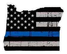 Oregon State (V38) Thin Blue Line Vinyl Decal Sticker Car Laptop Cop