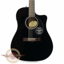 Brand New Fender CD-60SCE Dreadnought Spruce Acoustic Electric in Black