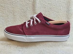 Vans mens Comfort trainers Suede Burgundy/White UK 11 EUR 45 US 12