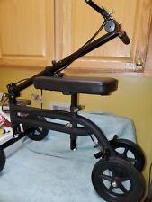 KneeRover Knee Scooter Steerable Knee Walker Crutch - Matte Black