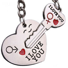 New Couple I LOVE YOU Heart Keychain Ring Keyring Key Chain Lover Romantic