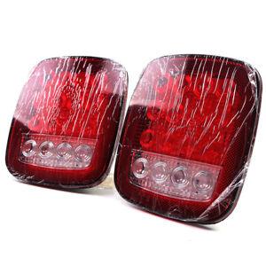 Universal 16LED Car Truck Stud Mount Stop Turn Signal Light Reverse Lamp 2 Pack