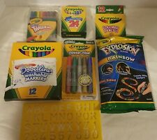Crayola Red Plastic Art Case: 5 packs of crayons and markers, and letter stencil