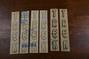 Trek Single Letter decals for frameset 70's vintage