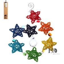 Rainbow Ratton Star Crystal Prisms Ball Suncatcher Tiny Car Charm Star Pendant
