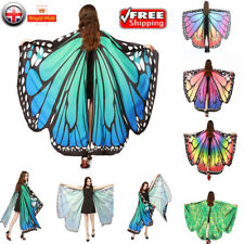 Butterfly Wings Fairy Costume Adult Outdoor Nymph Shawl Scarf Fancy Dress NEW UK