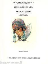 catalogue de Vente Atelier Tableau Deparis Simone Colombier Paul Marie