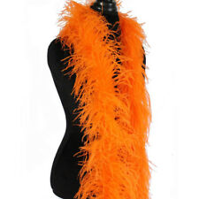 Orange 3ply Ostrich Feather Boa Scarf Prom Halloween Costumes Dance Decor