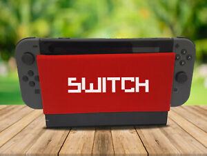 Switch Pixel - Nintendo Switch Dock Sock Cover Geeky Gaming Screen Handmade