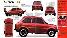 FIAT 126 V8 Custom Tuner SPEC SHEET/Brochure:1980