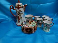 "Vintage Japanese ""Menji Period""  styled 16 Piece Hand Painted tea set"