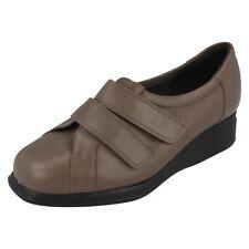 Mujer equity Color topo leather velcro de cuña zapato REINO UNIDO 2.5 4E ajuste