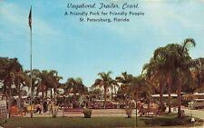 Postcard Vagabond Trailer Court St Petersburg Florida